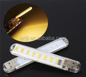 Portable Mini Usb Led Bar Light 8 Led 1.5w Warm White Led Strip Lamp For  Reading   Buy Usb Led Bar Light,Portable Led Bar Light,1.5w White Led Lamp  ...