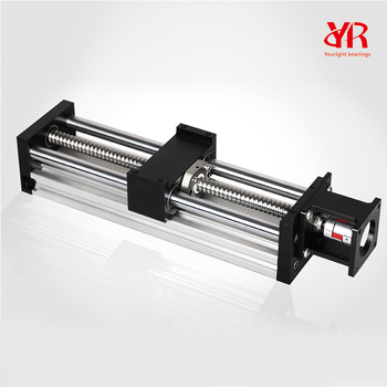 Cnc linear slide with 16mm lead ball screw double linear for Motorized linear motion slides