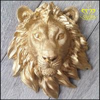 Metal Wall Art Bronze Lion Head Sculpture