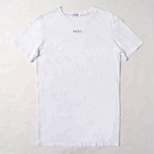 Basic longline plain Men t shirt cotton soft simple custom logo unisex cheap wholesale