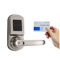 Fingerprint lock mechanism Hotel lock with inductive card 2018