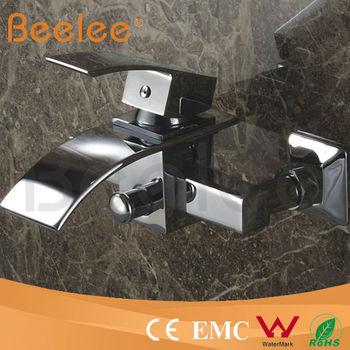 Vendita calda parete vasca maniglia bagno doccia rubinetto miscelatore con cascata beccuccio - Rubinetto bagno cascata ...