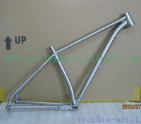 titanium mtb bike frame with taper head tube customized mountain bicycle frame durable and cheap titanium bike frame