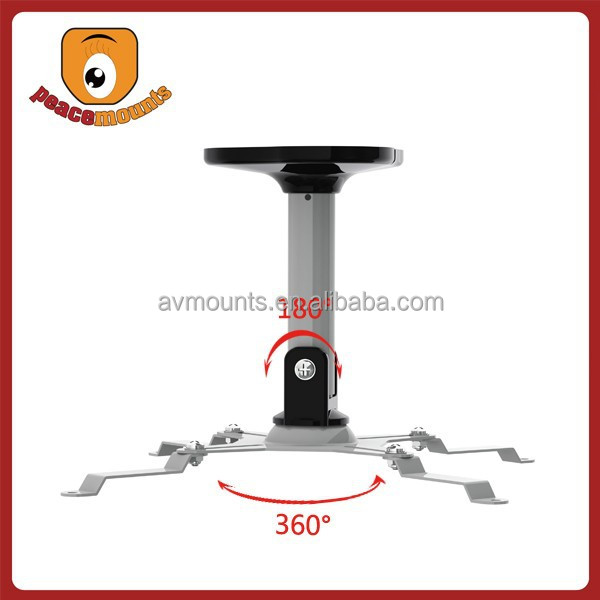 For Projectors Weight ups to 22lbs length fixed and full 360 degrees rotate LCD projector wall mount bracket