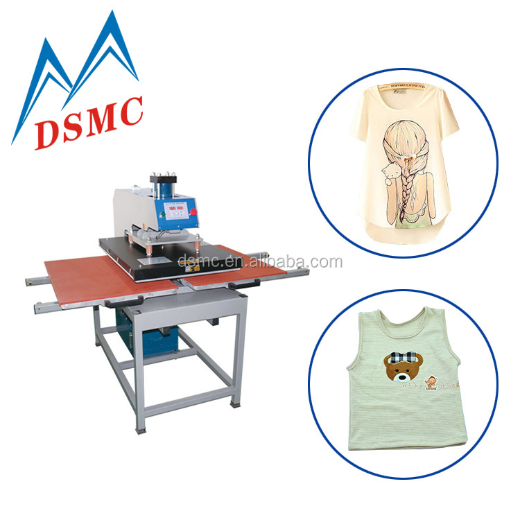 Digital printing 60 x 80 pneumatic heat press machine sublimation printer clothes printing