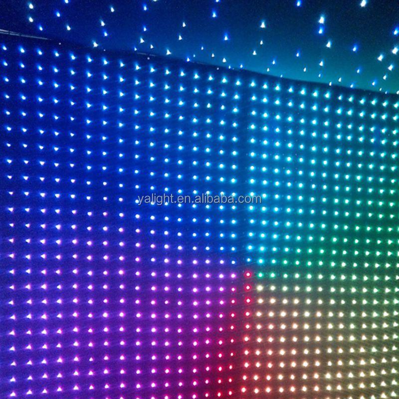 Led Dj Light Curtain/led Video Vision Curtain/ Cloth/screen ...