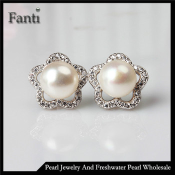 Pearl Stud Earring Designs Fresh Water Studs