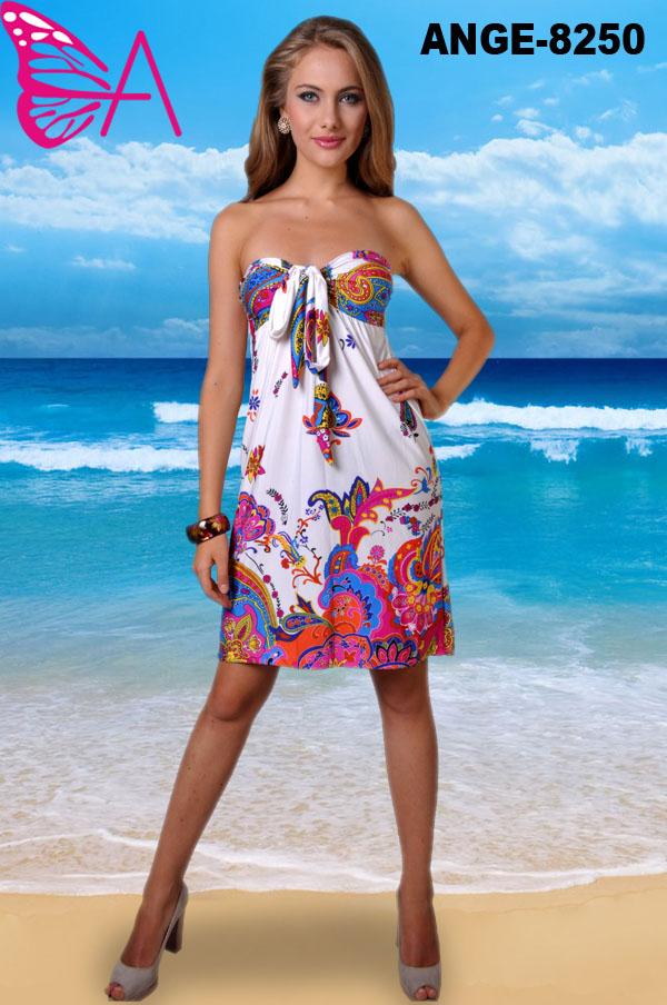 54c337bd3 ANGELA-8250 Playa fiesta caliente verano vestido corto de las mujeres