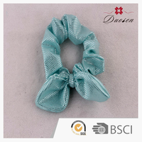 2016 Nice Design Customized Elastic Mesh Bowknot Hair Ties For Girls