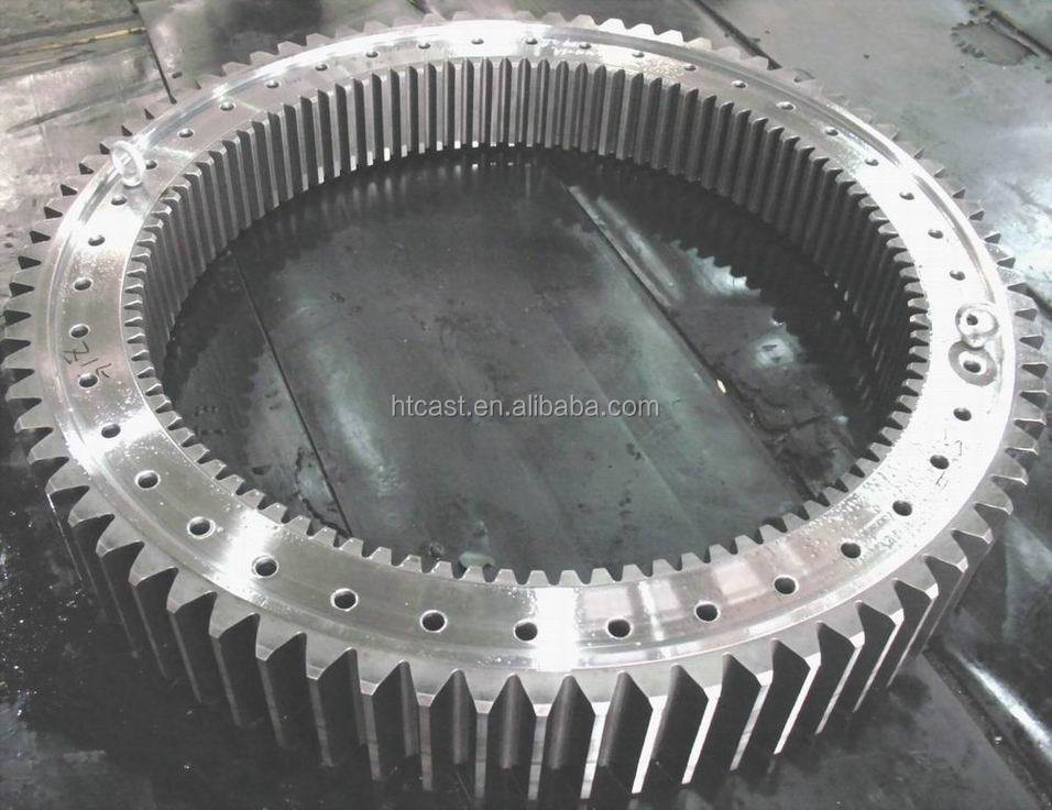 Large castings 40 modules girth gear for cement equipment