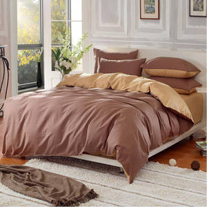 Duvet cover wholesale hotel simple plain color microfiber bedding set