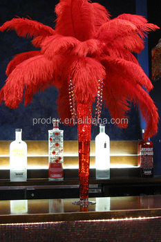 PARTY DECORATION RED OSTRICH FEATHER