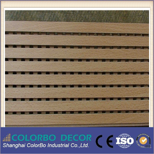 Office wooden noise absorbing walls