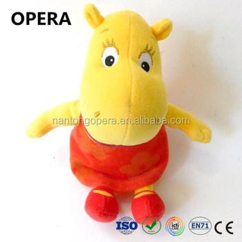 Cute Soft Cuddle plush Beanie Baby Yellow Hippo Customized Stuffed Toys 43c9c4dfae8