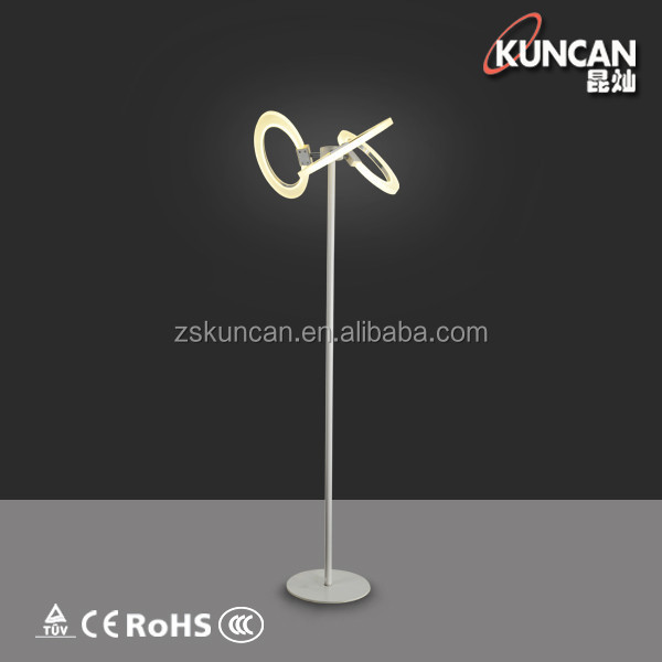 360 degree rotation fancy artistic LED floor lamps