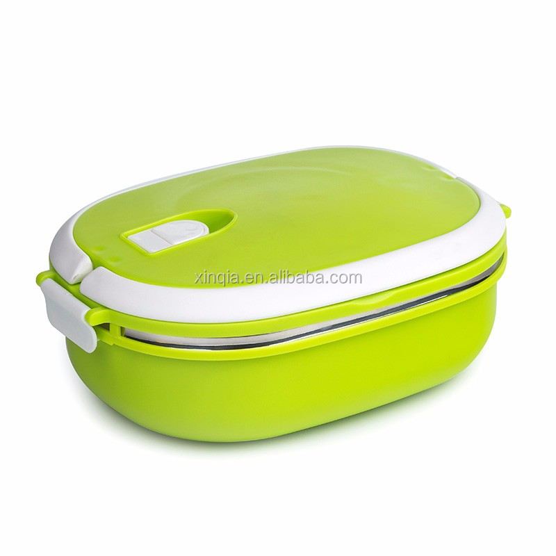 Leak proof 1 layer thermos square stainless steel lunch pot for kids