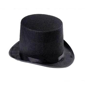 Black Magician Cap Gentleman Hat Jazz High Hat Prom Dress Cap Snowman Hat