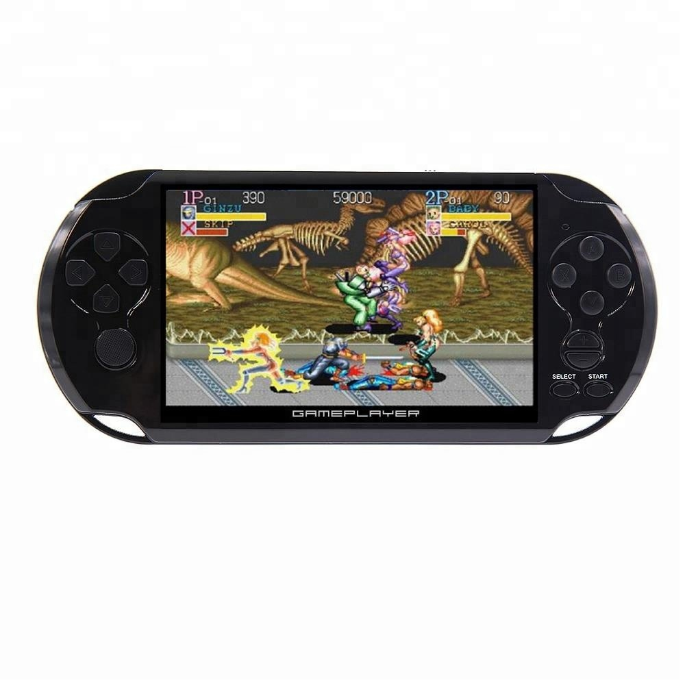5 inch 8GB 128Bit handheld game console Built-in 1300 games for NEOGEO/CPS/FC/SNES/GB/GBC/GBA/SMD/SEGA MP4
