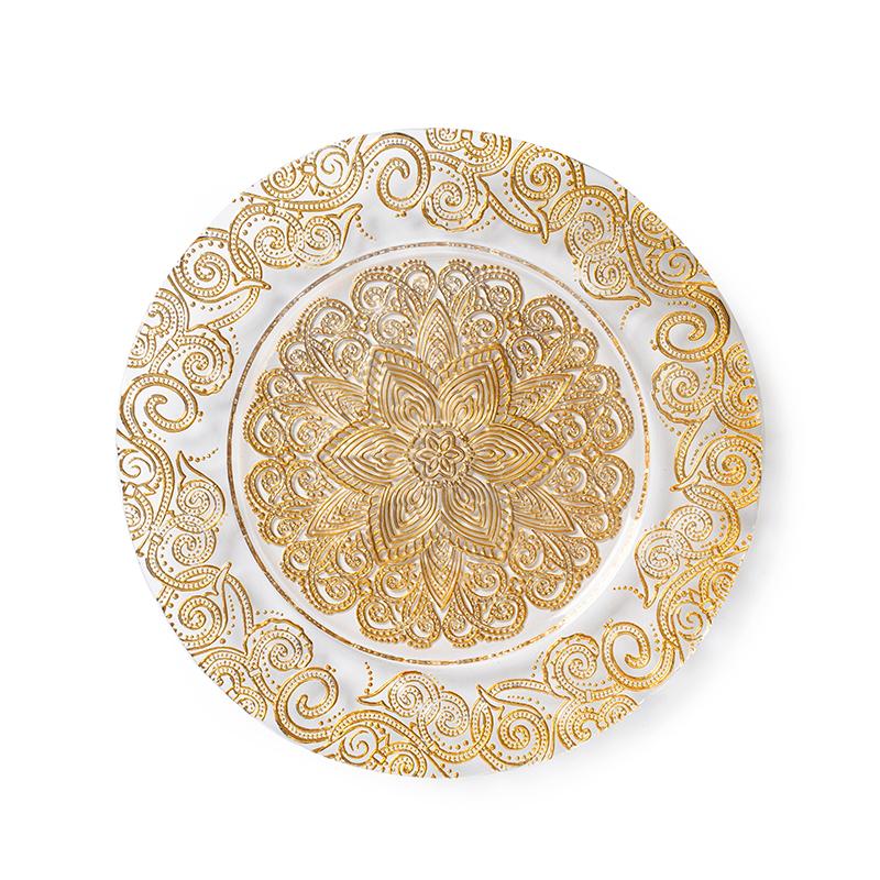 Wholesale Wedding Decoration Rim Charger Plates, Porcelain Plate Factory, Wholesale Cheap Porcelain Plate~