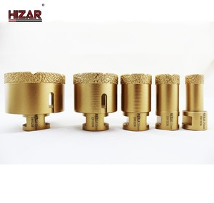 China golden supplier for Water Used Vacuum Brazed Core Drill Bits for stone