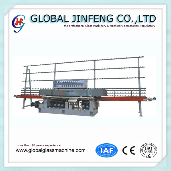 JFE - 9243 9 Motor Glass Straight Line Edging and Polishing Machine with CE