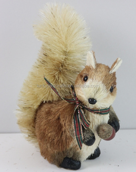Christmas Squirrel.Christmas Squirrel Decoration Squirrel Made From Natural Material Foam Squirrel Natural Fiber Squirrel Sisal Squirrel Ornament Buy 2016 Christmas