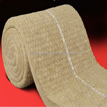 Heat insulation rock wool blanket with gi wire mesh for Mineral wool blanket