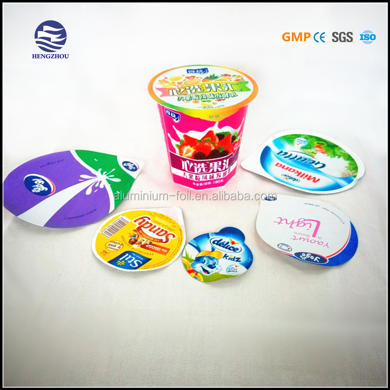 Embossed printed aluminium lid heat seal aluminium foil for dairy packing