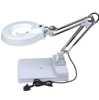 YP-86C 20X Desk Magnifying With Led Light/ magnifying magnifier glass lens lamp with stand/ESD Safe Led Magnifying Glass