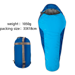 Outdoor Camping Sleeping Bag Mummy Inflatable Army Goose Down Sleeping Bag