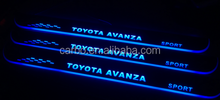 New arrival Car specific led pedal light led moving door for Toyota Avanza scuff door sill plate light