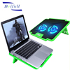 Double fans 5 Adjustable angels laptop computer cooler with 2 USB hub
