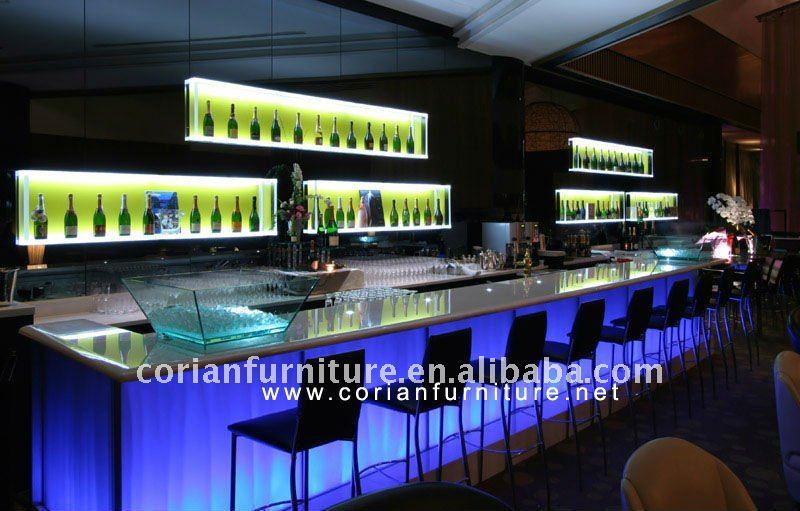 El m s nuevo dise o con luz maquina barra mostrador mesas de bar identificaci n del producto - Barras de bar de diseno ...