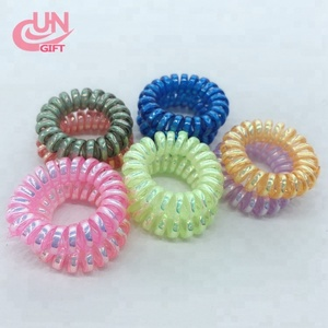 Bulk Wholesale Elastic Telephone Wire Cord Hair Ties