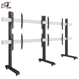 High Quality Adjustable TV Monitor Stand Mobile TV Floor Stand LED TV Display Stand For Meeting Room