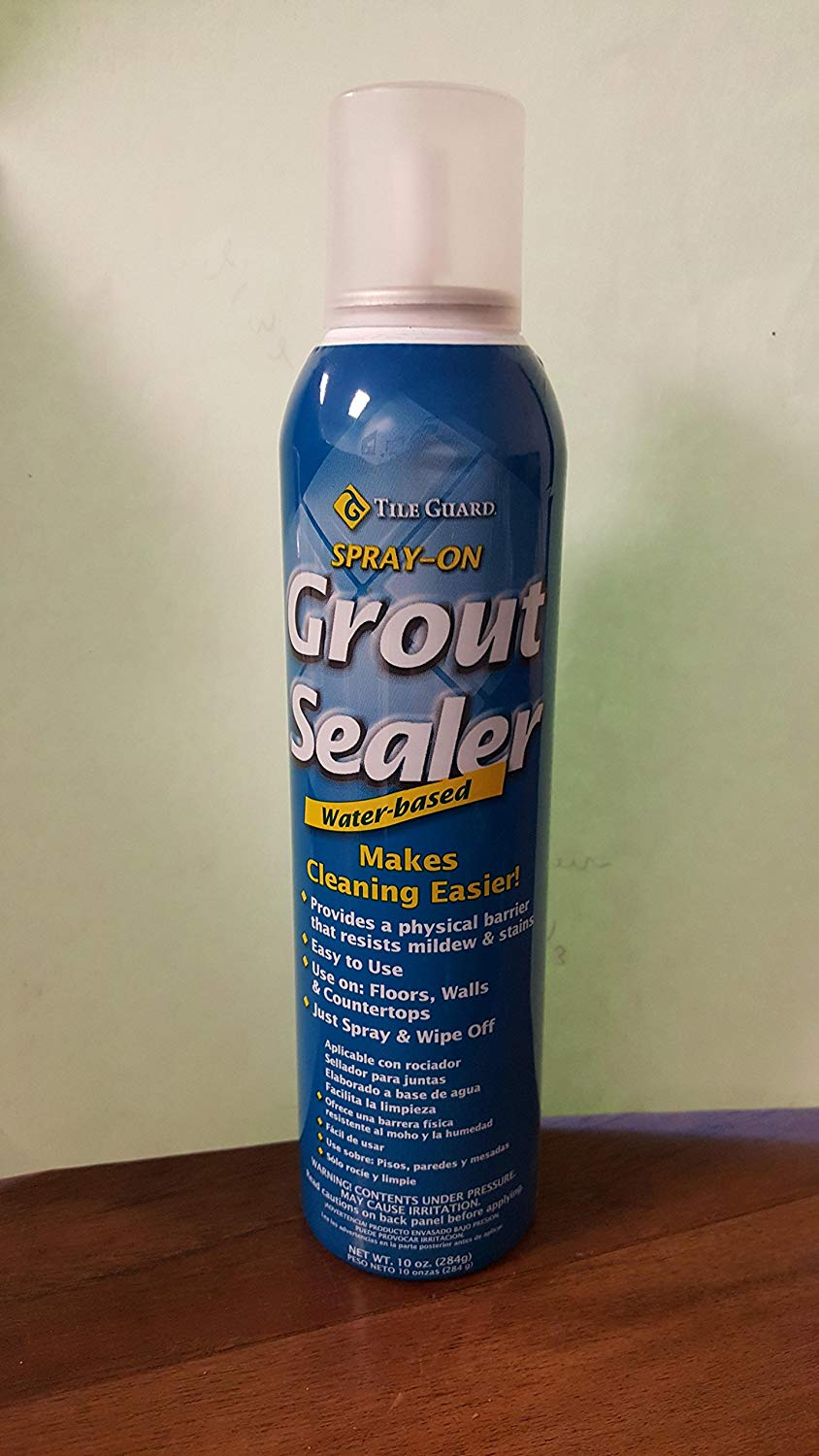SPRAY ON GROUT SEALER WATER-BASED JUST SPRAY AND WIPE OFF