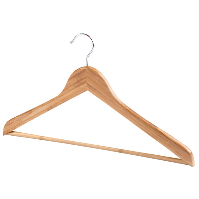 Natural Bamboo Hangers Dresses Pants Hangers
