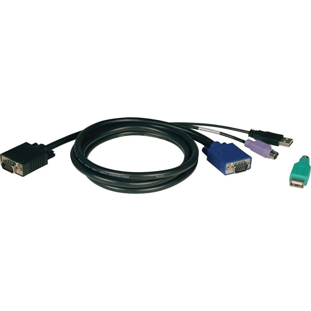 TRIPP LITE 6FT PS2/USB KVM CABLE KIT FOR B042 SERIES KVM SWITCHES / P780-006 /