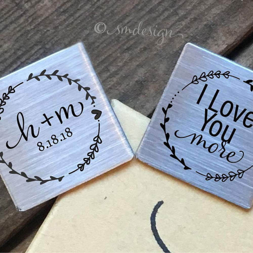 Get Quotations I Love You More Cufflinks Personalized Gift For Groom From Bride On Wedding Day Husband