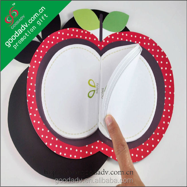 Custom note pad / fruit shaped sticky note pad / fridge magnet note pad