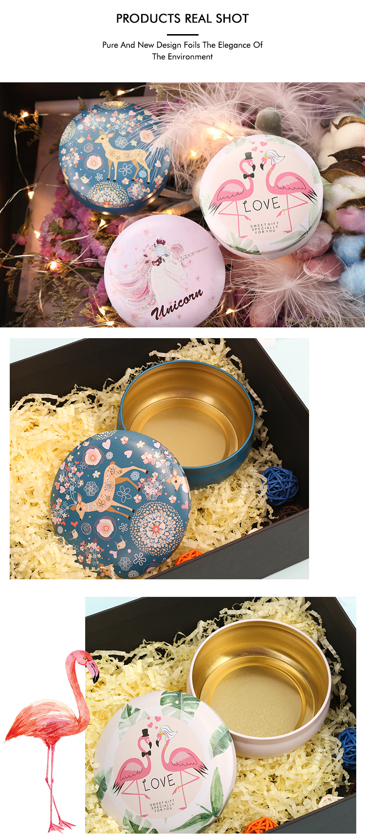 Yuanyuan Di Natale Regalo Vuoto Candela Della Torta Scatole, Candela del Sapone Menta di Metallo Scatola di Latta