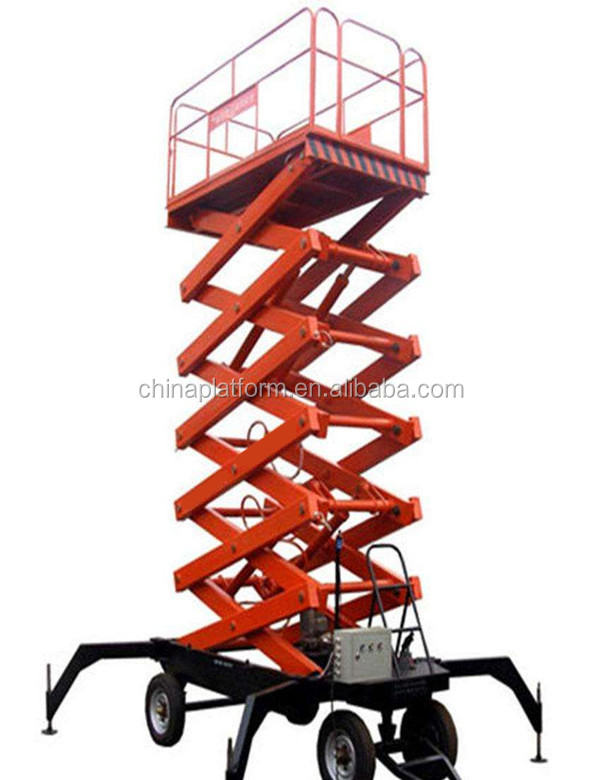 Mini mobile scissor lift 8m lifting height hydraulic lift machine