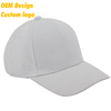 ODM Good Quality 100% polyester Plastic Closure sun Visor 6-panel sublimation White domed crown golf hat for kids