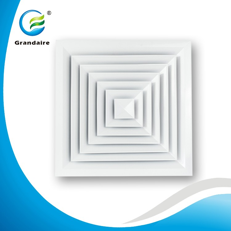 Grandaire Aluminum Air Vent Registers HVAC Diffuser in a 4 way airfow pattern