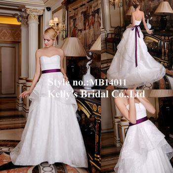 Organza Fabric Long Purple Ribbon & Sweetheart Neckline Plus Size Wedding  Dress Patterns - Buy Plus Size Wedding Dress Patterns,Muslim Hijab Wedding  ...
