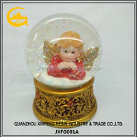 Resin Angel Water Globe Holiday Gift Desktop Decor Polyresin Desktop Decor