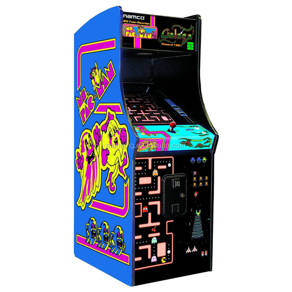 New Upright Video Arcade Game Ms Pac Man Galaga 60 Games