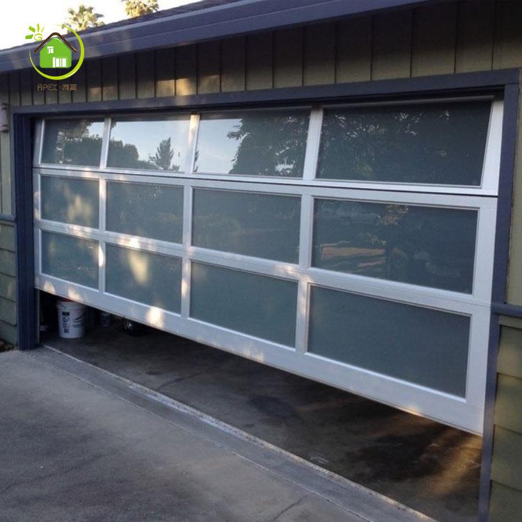 Transpa Sectional Double Gl Overhead Garage Door
