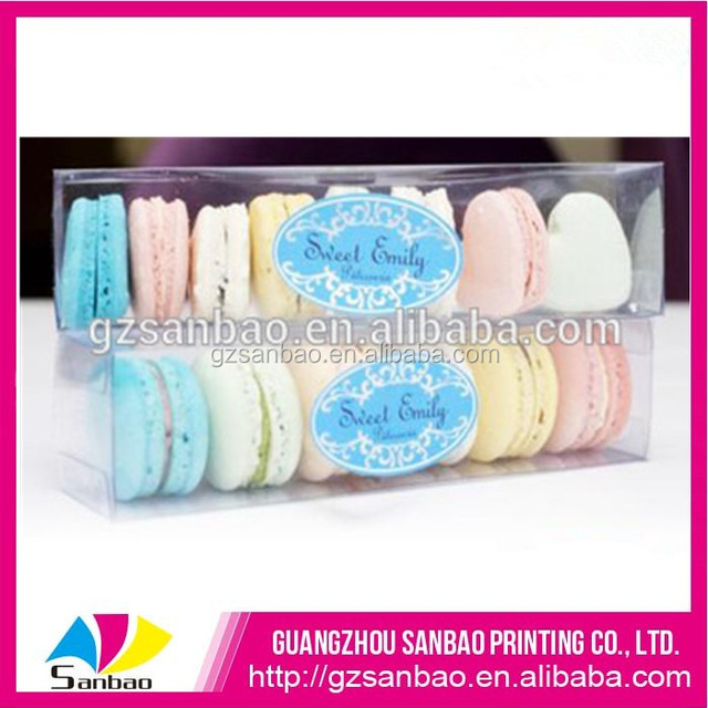 clear plastic macaron box packaging