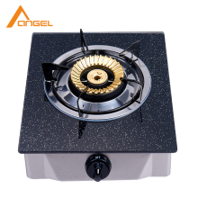 CE Certification Wooden Table Use Stainless China Single Burner Gas Stove Glass Tempered